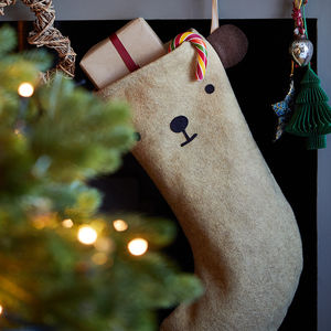 Dress Up Animal Felt Christmas Stocking - stockings & sacks