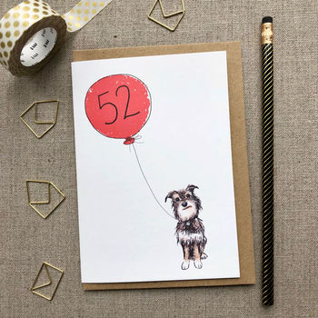 Birthday Card Dog Design Any Age