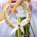 Elsie Gold Bee Real Lucky Wedding Horseshoe Gift