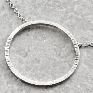 Large Circle Hammered Necklace - necklaces & pendants