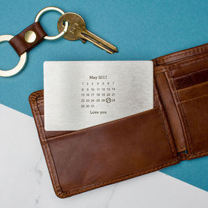 Personalised Steel Never Forget Wallet Cards