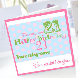 Personalised 21st Birthday Card - 21st birthday cards