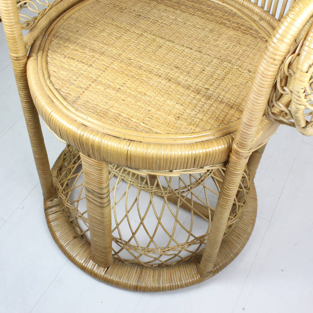 elaborate rattan peacock chair in two colours by out there interiors rh notonthehighstreet com