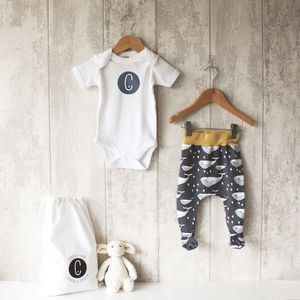 Personalised Bodysuit And Footed Leggings Set - gender neutral