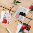 Botanical Christmas Gift Tags Berry Roses Collection