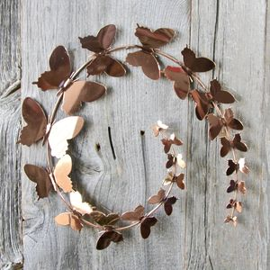 Copper Butterfly Wall Art - sculptures