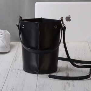 Eazo Leather Bucket Shoulder Bag Gift For Her - cross body bags