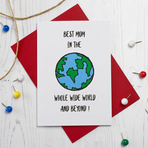 Best Mum In The World Card - mother's day cards & wrap