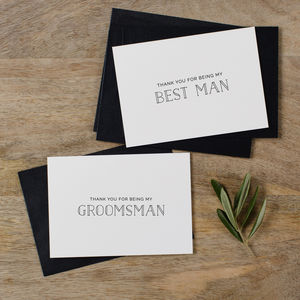 Usher Or Best Man Thank You Cards