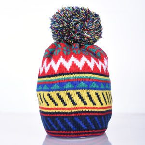 Cormack 'Striangles' Merino Wool Beanie Hat - men's accessories