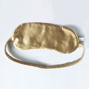 Silk Eye Mask Gold - new in health & beauty