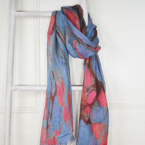 Burnet Marble Print Wool Silk Scarf - women's accessories