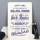 Personalised Anniversary Metal Type Print