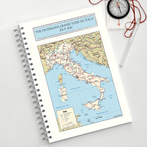 Map Of Italy Travel Journal