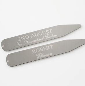 Personalised Vintage Birthday Collar Stiffeners - collar studs & stiffeners