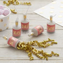 Gold Foiled Yay! Ombre Pink Party Poppers Pick And Mix