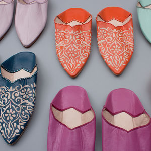 Moroccan Decorative Babouche Slippers - 50th birthday gifts