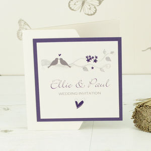 Amore Pocketfold Wedding Invitation