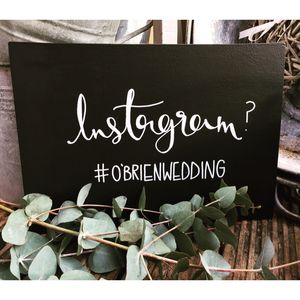 Personalised Instagram Hashtag Chalkboard - room decorations