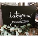 Personalised Instagram Hashtag Chalkboard