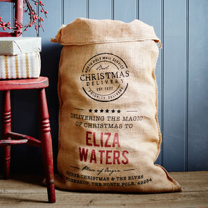 The Gilbert Personalised Christmas Sack