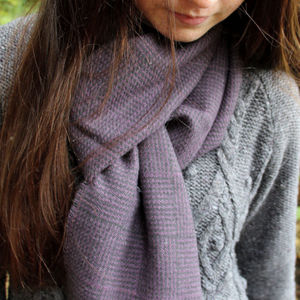Rich Check Wool Scarf - scarves
