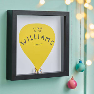Personalised Mini Family Figures Print - children's room