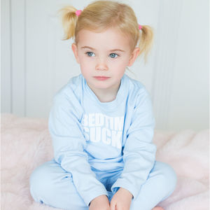 Bedtime Sucks Baby Blue Kids Pyjamas By Snuglo™ - baby & child sale