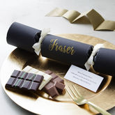 Personalised Chocolate Christmas Cracker - christmas decorations