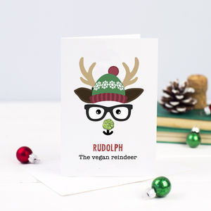 Funny Vegan Christmas Card - winter sale