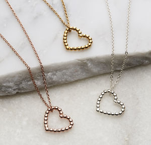 Bead Heart Necklace