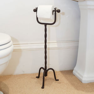 Twisted Scrolled Standing Toilet Roll Holder - summer sale