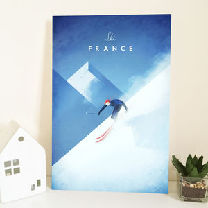 'Ski France' Travel Poster Print - new in prints & art