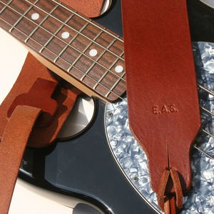 Personalised 'Yasgur' Leather Guitar Strap - belts