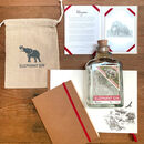 Elephant Gin Gift Set With A Notebook