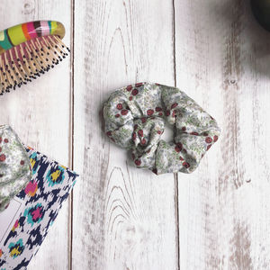 Ladybird, Floral Silk Hair Tie Scrunchie