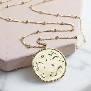 Constellation Disc Pendant Necklace