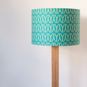 Geometric Print Handmade Lampshade - lighting