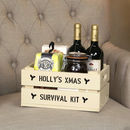 Personalised Small Christmas Gift Crate
