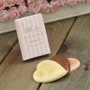 Retro Striped Wedding Favour Chocolate Boxes