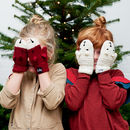 Crocheted Child's Animal Character Mittens