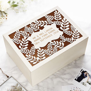 Personalised Laurel Keepsake Box - shop by occasion