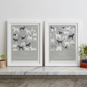 'Terriers, Gun Dogs And Hounds' Screen Prints - posters & prints