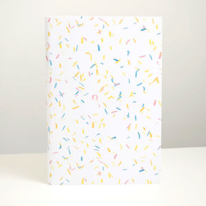 Confetti Illustrated Notebook