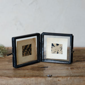 Antique Black Tiny Hinged Frame
