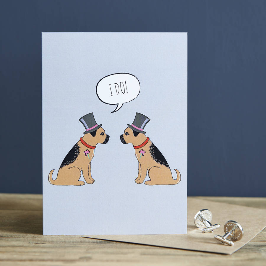 Border Terrier Gay Wedding Civil Partnership
