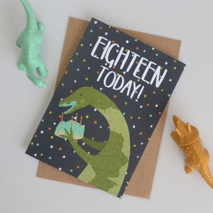 18th Birthday Dinosaur Card