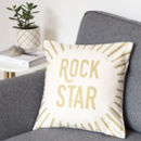 Rock Star Gold Cushion Cover