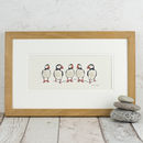 Puffins Hand Finished Art Print