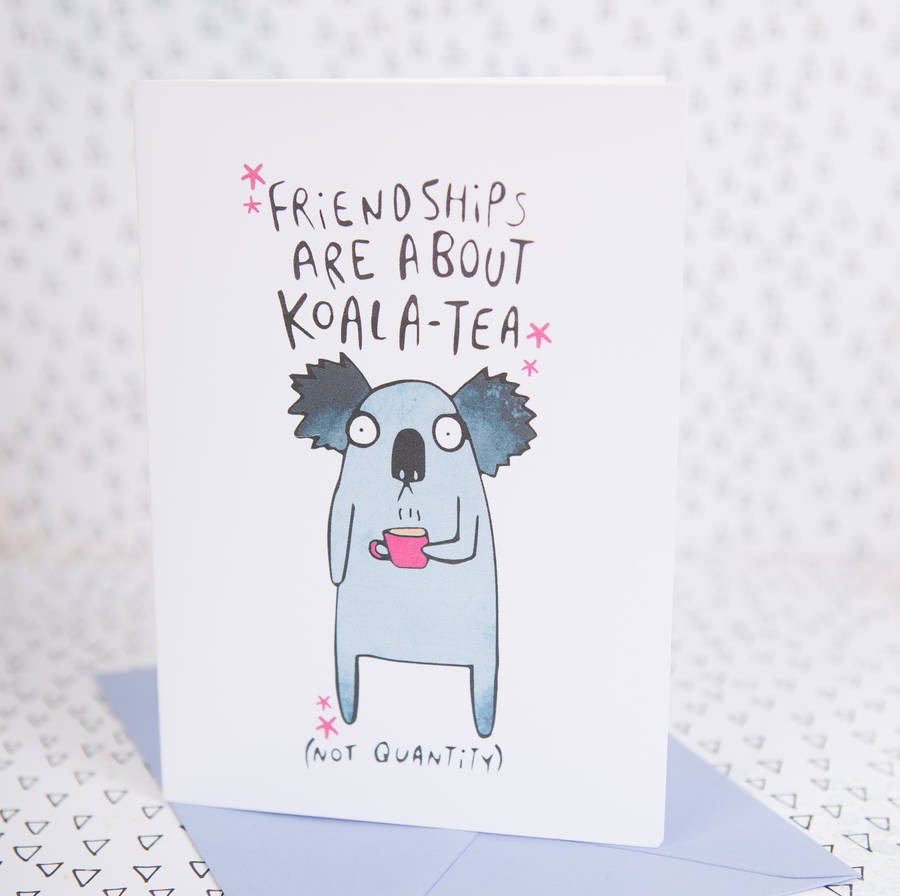 Koala Tea Friendship Card